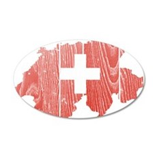 Switzerland Flag And Map Wall Decal