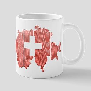 Switzerland Flag And Map Mug