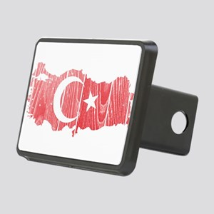 Turkey Flag And Map Rectangular Hitch Cover
