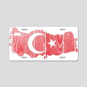 Turkey Flag And Map Aluminum License Plate