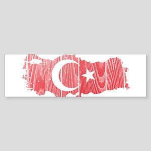 Turkey Flag And Map Sticker (Bumper)