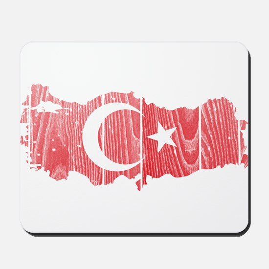 Turkey Flag And Map Mousepad