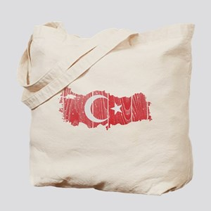 Turkey Flag And Map Tote Bag