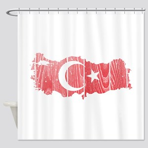 Turkey Flag And Map Shower Curtain