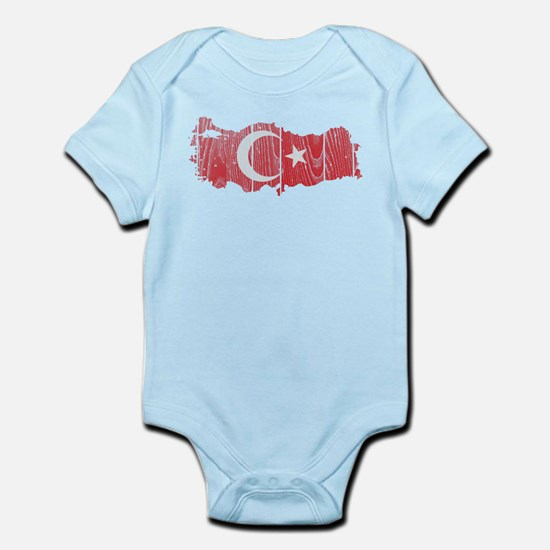 Turkey Flag And Map Infant Bodysuit