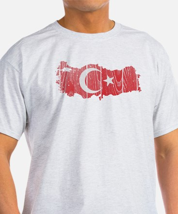 Turkey Flag And Map T-Shirt