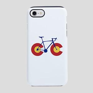 Colorado Flag Bicycle iPhone 7 Tough Case
