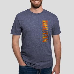 Bhutan Mens Tri-blend T-Shirt