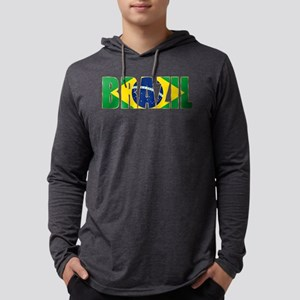 Brazil Logo Mens Hooded Shirt