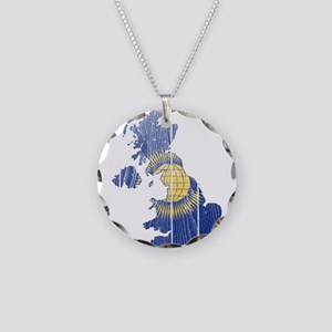 United Kingdom Commonwealth Flag And Map Necklace