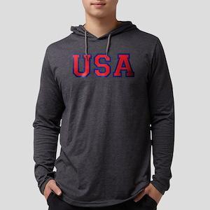 USA Logo Mens Hooded Shirt