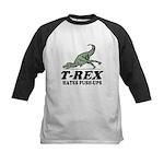T-REX Hates Pushups Kids Baseball Jersey