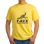 T-REX Hates Pushups Yellow T-Shirt
