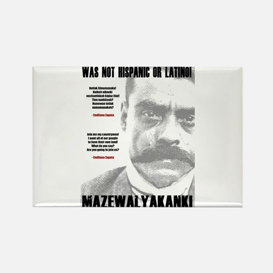 Emiliano Zapata: Indigenous Leader Rectangle Magne