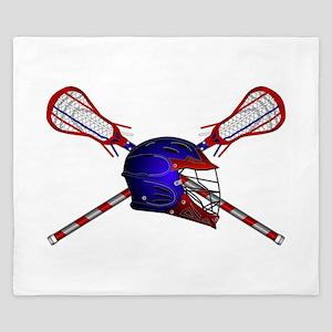 Lacrosse Helmet with sticks King Duvet
