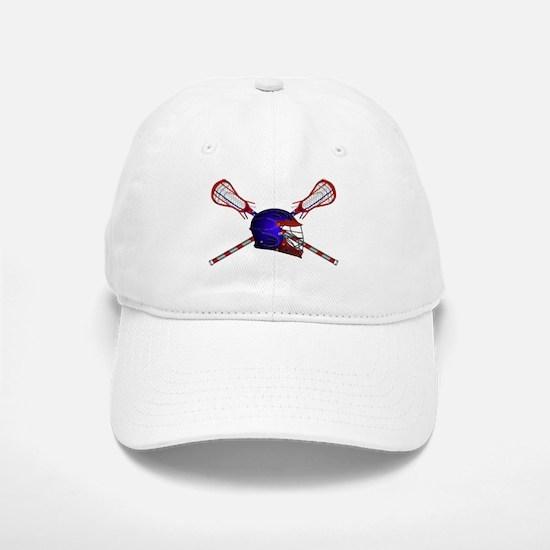 Lacrosse Helmet with sticks Baseball Baseball Cap
