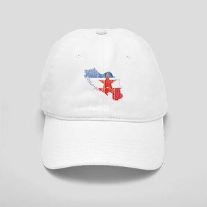 Yugoslavia Star Flag And Map Cap