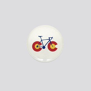 Colorado Flag Bicycle Mini Button