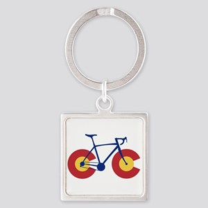 Colorado Flag Bicycle Keychains
