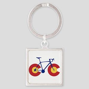 Colorado Flag Bicycle Keychains