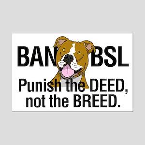 Ban BSL Mini Poster Print
