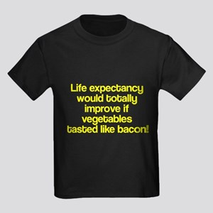 Vegetables Tasted Like Bacon Kids Dark T-Shirt