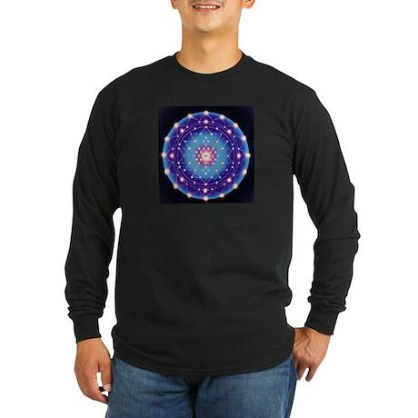 Tetra Mandala Long Sleeve Dark T-Shirt