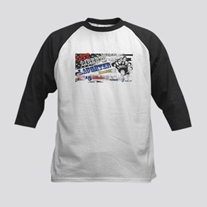 Life Liberty and Laughter Kids Baseball Jersey