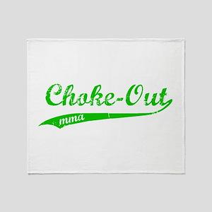 Choke-out (green) Throw Blanket