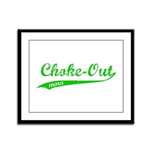 Choke-out (green) Framed Panel Print