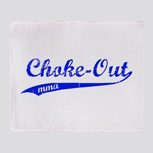 Choke-out (blue) Throw Blanket