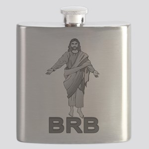 Jesus Will Be Right Back Flask