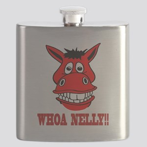 Horse Says Whoa Nelly Flask