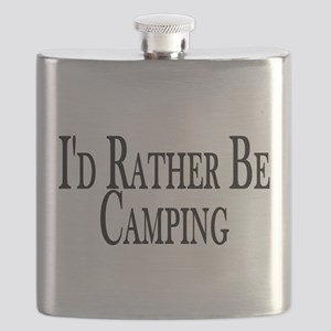 Rather Be Camping Flask