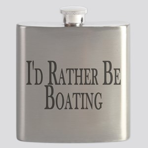 Rather Be Boating Flask