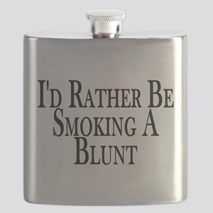 Rather Smoke Blunt Flask