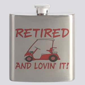 Retired And Lovin' It Flask