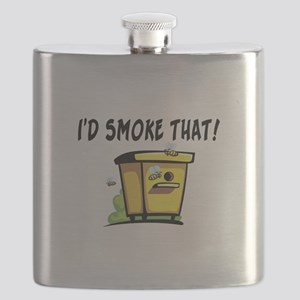 I'd Smoke That Bee Hive Flask