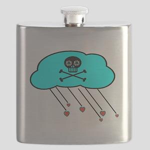 Cloudy Crossbones Flask