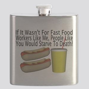 Fast Food Worker Flask