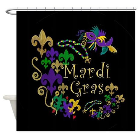 Mardi Gras Accents Shower Curtain