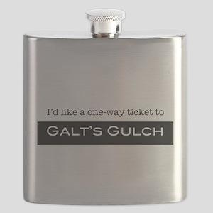 Galts Gulch Ticket Flask