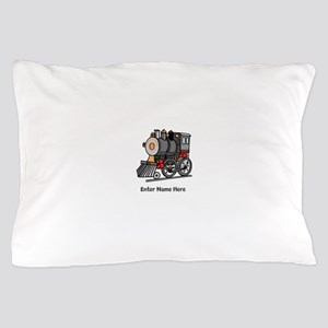 Personalized Train Engine Pillow Case