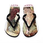 Sleeping Beauty Flip Flops