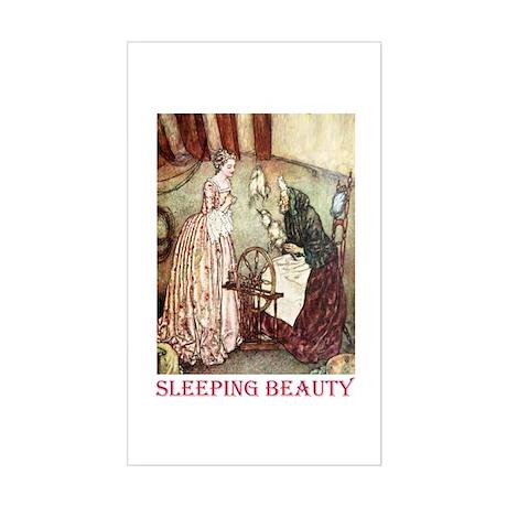 Sleeping Beauty Sticker (Rectangle)
