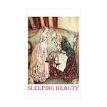 Sleeping Beauty Sticker (Rectangle 50 pk)
