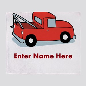 Personalized Tow Truck Throw Blanket
