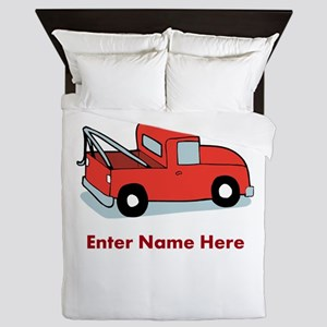 Personalized Tow Truck Queen Duvet