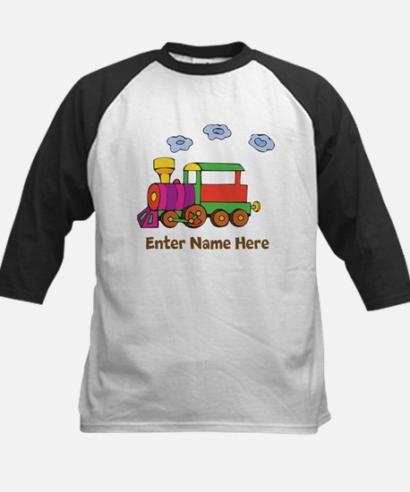 Personalized Train Engine Kids Baseball Jersey