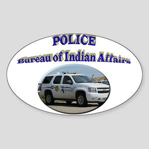 BIA Police Sticker (Oval)